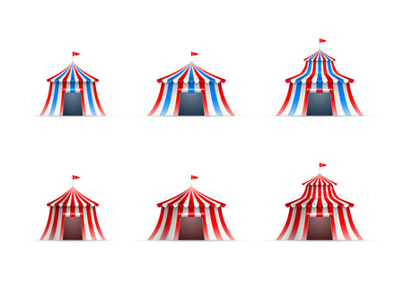 Vector illustration of circus tent collection. Vector