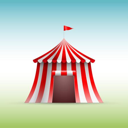 big top tent: Vector illustration of circus tent.