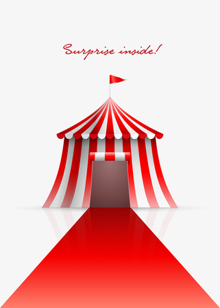circus vector: Circus tent and red carpet. Vector illustration. Illustration