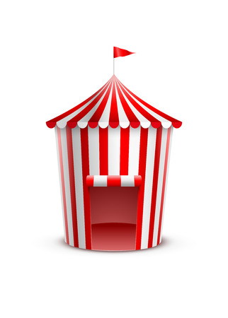Vector illustration of circus tent. Vector