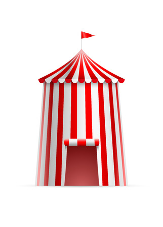 big top tent: Vector illustration of circus tower tent.