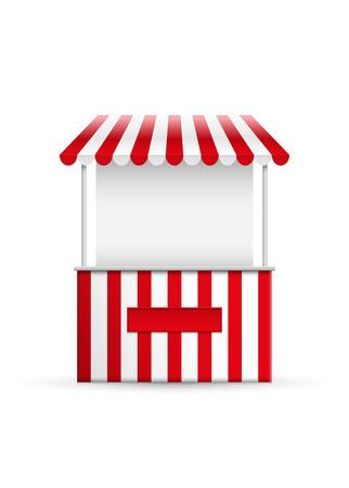 Vector illustration of a stall.  イラスト・ベクター素材