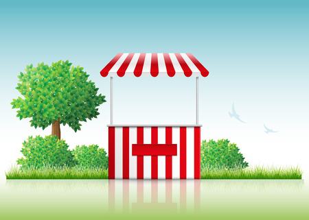 Vector illustration of a stall in nature. Vector