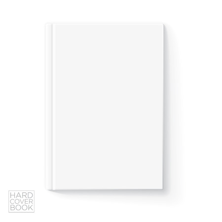 hard cover: Hard cover vertical book design template. Vector detailed illustration. Illustration