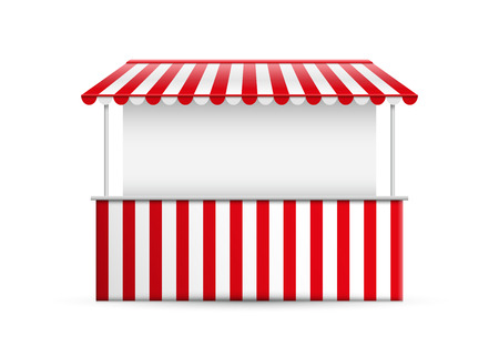 awning: Detailed vector illustration of a stall.