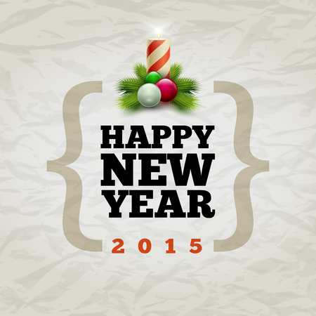 Vector modern Happy New Year 2015 design template. Elements are layered separately in vector file. Vector