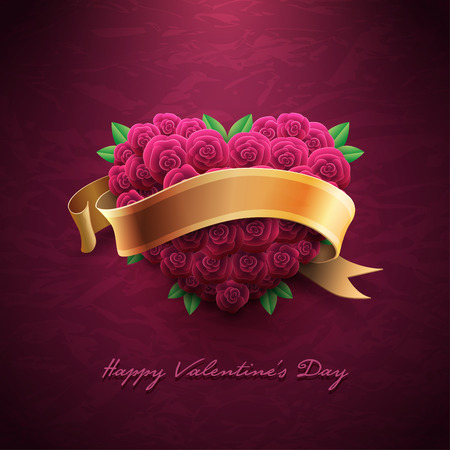 Valentine\'s Day roses Vectores