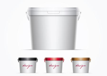 plastic bucket illustration.