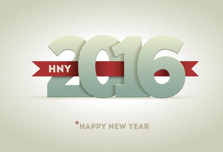 nowy: 2016 Happy New Year element projektu karty z pozdrowieniami.