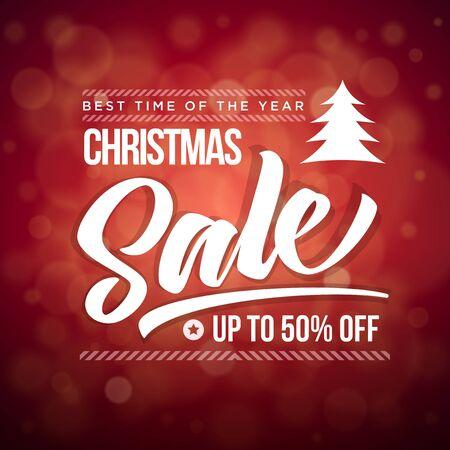 christmas sale: Vector Christmas Sale typographic design.