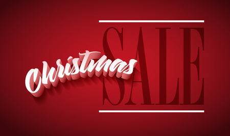 separately: Vector Christmas Sale poster design. Elements are layered separately in vector. Illustration