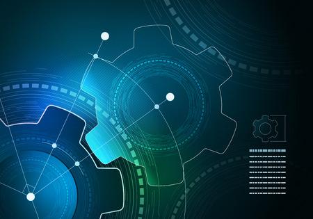 벡터 기술 인포 그래픽 레이아웃 디자인. 요소는 벡터 파일에서 개별적으로 계층화되어있다.