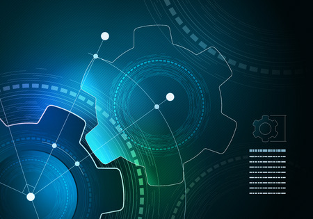 Vector technological infographic layout design. Elements are layered separately in vector file.