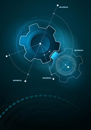 ingenieria industrial: Vector de diseño de la disposición infografía tecnológica. Los elementos se acodan por separado en archivo vectorial.