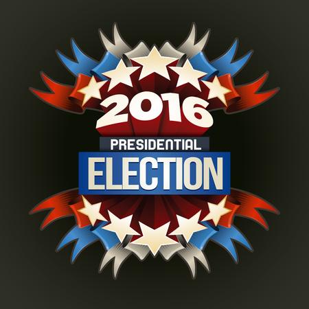 2016 Elezioni presidenziali Design. Gli elementi sono disposti separatamente in file vettoriali. Vettoriali