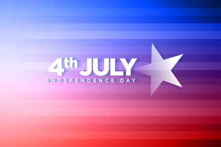 fourth of july: Vector banner for fourth of july independence day. Illustration