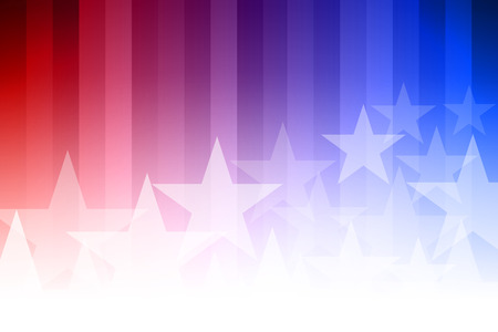 Vector abstract star background. Blue, red and white colors. Illustration
