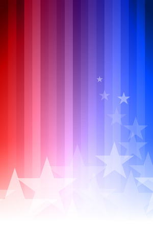 Vector abstract star background. Blue, red and white colors. Ilustração