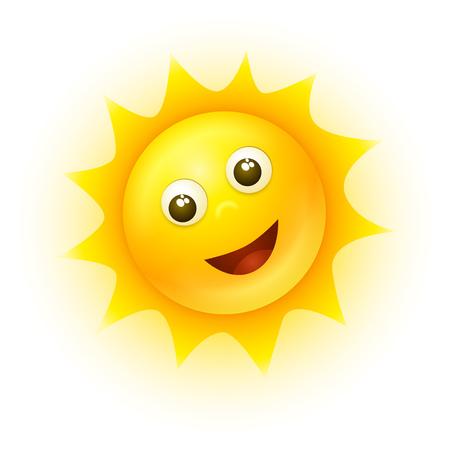 Vector soleil souriant illustration.
