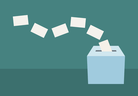 Ballot box illustration