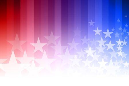传染媒介抽象星背景。蓝色,红色和白色的颜色。