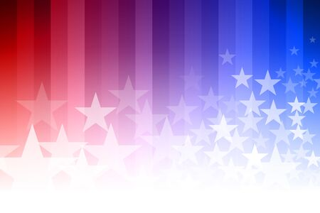 star background: Vector abstract star background. Blue, red and white colors. Illustration