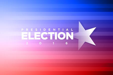 presidential election: Vector banner for presidential election. Illustration