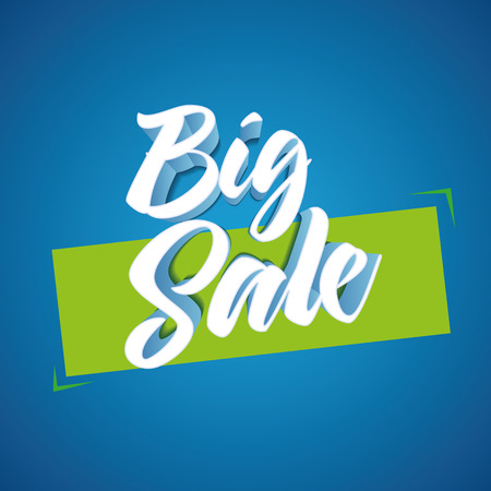 separately: 3d Big Sale design. Elements are layered separately in file. Easy editable. CMYK color mode. Print ready.