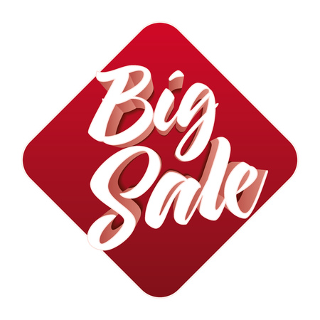 3d mode: 3d Big Sale design. Elements are layered separately file. Easy editable. CMYK color mode. Print ready. Illustration