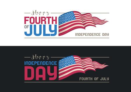 Vector quatrième de conception Juillet. Jour de l'Indépendance des États-Unis d'Amérique.