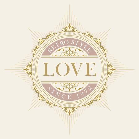 luxury elegant frame ornament line design. Monogram emblem template. Ideal for restaurant, hotel, jewelry, boutique, cafe, heraldic,  fashion or royal sign.