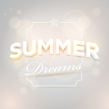 separately: Vector summer design template. Elements are layered separately in vector file.