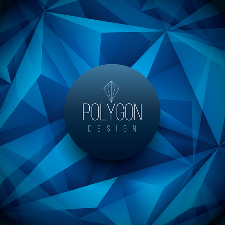 separately: Vector polygon based design template. Elements are layered separately in vector file.