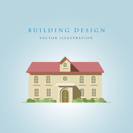 separately: flat illustration of a house. Elements are layered separately