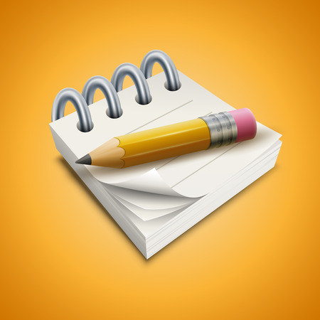 notepads: illustration of pencil and notepad