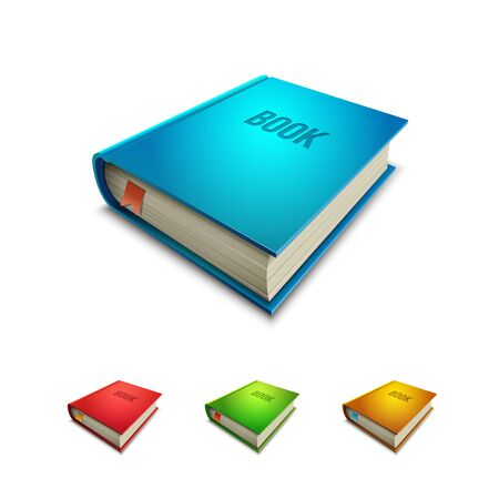 hardcovers: hardcover book icon set