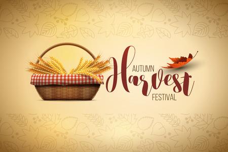 harvest festival: autumn harvest festival poster design template