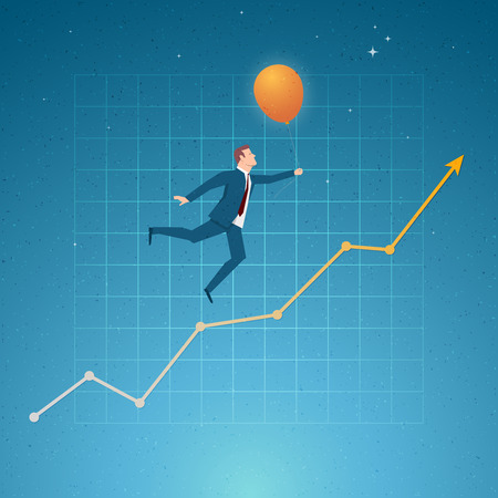 to go: Business concept vector illustration. Growth, balance, success, business opportunities concept. Elements are layered separately in vector file. Illustration
