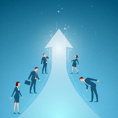 ビジネス概念ベクトル イラスト。成功、成長、ビジネスの機会概念。要素は、ベクター ファイルに個別に配置されます。