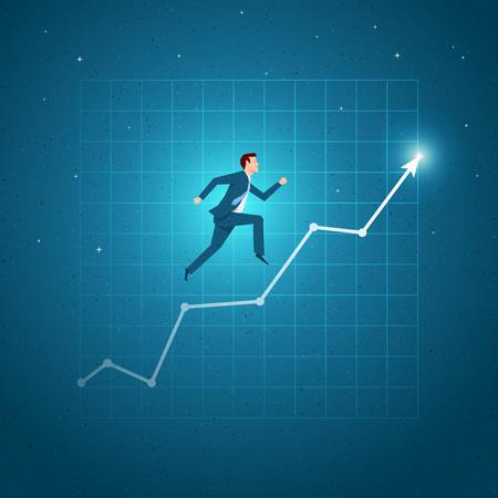 Business-Konzept Vektor-Illustration. Wachstum, Gleichgewicht, Erfolg, Business Chancen Konzept. Elemente werden separat in Vektor-Datei geschichtet. Standard-Bild - 69220762