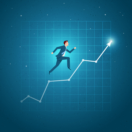 Business concept vector illustration. Growth, balance, success, business opportunities concept. Elements are layered separately in vector file. Vectores