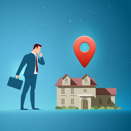 opportunity concept: Business concept vector illustration. Investing, real estate, investment opportunity, choice concept. Elements are layered separately in vector file.