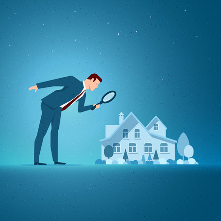 opportunity concept: Business concept vector illustration. Investing, real estate, investment opportunity concept. Elements are layered separately in vector file.