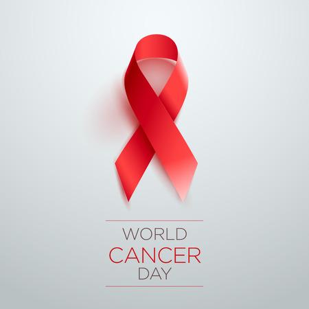 World Cancer Day Awareness Ribbon. Vector illustration. Illustration