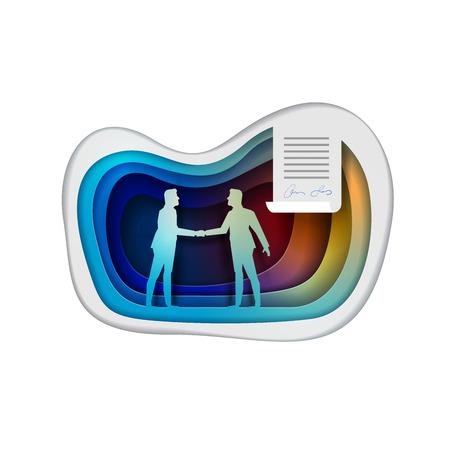 Business Concept Vector Illustration Agreement Partnership