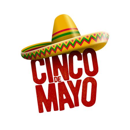mayo: Cinco de Mayo holiday poster design. Vector illustration.