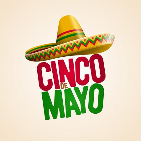 Cinco de Mayo holiday poster design. Vector illustration on pink background. Illustration
