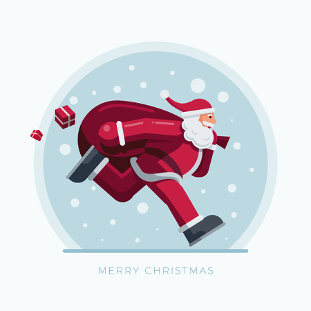 Vector illustration of Santa Claus. Christmas concept design. Illustration