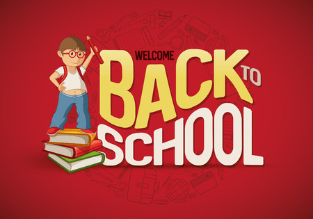 Welcome Back To School poster design template.