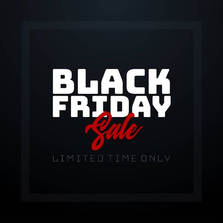 Black Friday Seasonal Sale banner design template. Elements are layered separately in vector file.